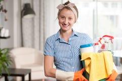 Mulher com detergente Foto de Stock
