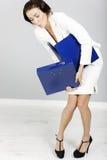Mulher com dobradores Fotos de Stock Royalty Free