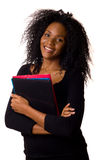 Mulher com dobradores Imagens de Stock Royalty Free