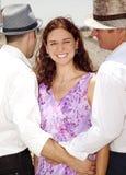 Mulher com dois homens imagem de stock