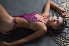 Mulher com dreadlocks Fotos de Stock
