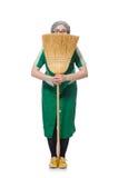 Mulher com escova arrebatadora Foto de Stock