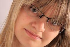 Mulher com eyeglasses Fotos de Stock