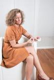 Mulher com fármacos Fotografia de Stock Royalty Free