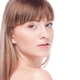 Mulher com a face perfeita da saúde Imagens de Stock