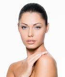 Mulher com face saudável Foto de Stock Royalty Free