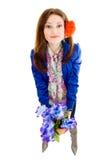 Mulher com flores Imagens de Stock Royalty Free