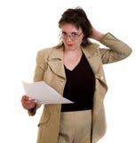 Mulher com folha limpa fotos de stock