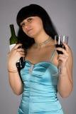 Mulher com frasco fotos de stock royalty free