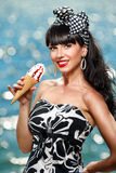 Mulher com gelado Imagens de Stock Royalty Free