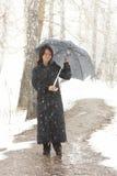 Mulher com guarda-chuva Foto de Stock