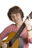 Mulher com guitarra Foto de Stock