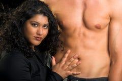 Mulher com homem 'sexy' Imagens de Stock Royalty Free