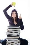 Mulher com idéia Fotografia de Stock Royalty Free