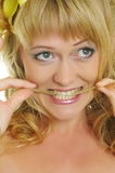 Mulher com lírio Fotos de Stock Royalty Free
