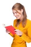 Mulher com livro Fotografia de Stock
