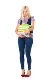 Mulher com livros Imagens de Stock Royalty Free
