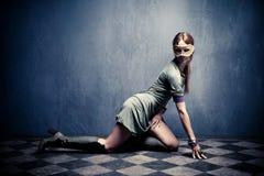 Mulher com máscara foto de stock royalty free