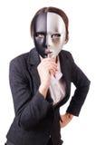 Mulher com máscara Fotos de Stock