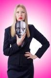 Mulher com máscara Fotos de Stock Royalty Free