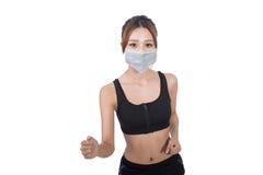 Mulher com máscara imagens de stock