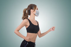 Mulher com máscara imagem de stock