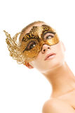 Mulher com máscara do carnaval Foto de Stock Royalty Free