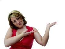 Mulher com mãos acima fotos de stock