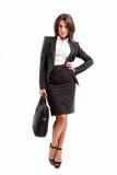Mulher com mala de viagem imagens de stock royalty free