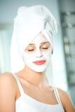 Mulher com masque facial Imagem de Stock Royalty Free