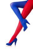 Mulher com meias Fotografia de Stock