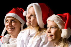 Mulher com meninas Imagem de Stock Royalty Free