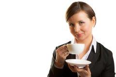 Mulher com o copo do chá imagem de stock royalty free
