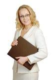 Mulher com o livro Imagens de Stock