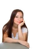 Mulher com olhos verdes Imagens de Stock