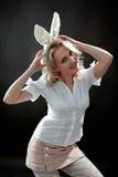 Mulher com orelhas Fotos de Stock Royalty Free