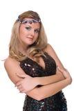Mulher com a ornamentação no cabelo foto de stock