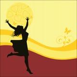 Mulher com os braços outstretched Fotografia de Stock Royalty Free