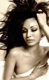 Mulher com os olhos bonitos sensuais Foto de Stock