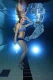 Mulher subaquática imagem de stock