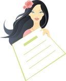 Mulher com página vazia ilustração do vetor
