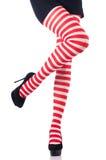 Mulher com pés longos Imagens de Stock
