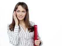 Mulher com papéis Fotografia de Stock