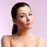 Mulher com pele da saúde da face Imagem de Stock Royalty Free