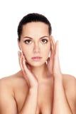 Mulher com pele da saúde da face foto de stock royalty free