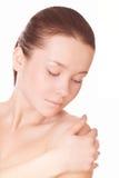 Mulher com pele limpa Imagens de Stock