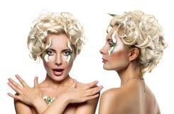 Mulher com penteado da fôrma fotos de stock royalty free