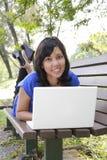 Mulher com portátil Foto de Stock