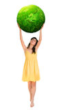 Mulher com potência Foto de Stock Royalty Free