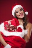 Mulher com presentes Imagens de Stock Royalty Free